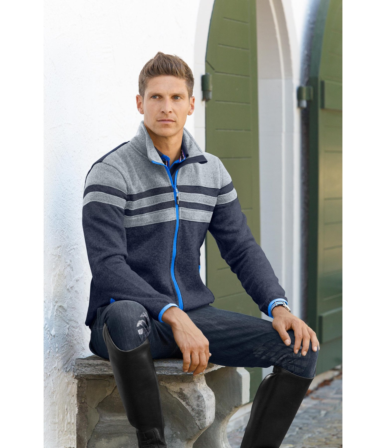 Felix Bühler Veste polaire tricot homme Maximilian - 652153-XXL-NV - 4 4e56b57d2ea1