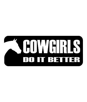 Kramer Autocollant Cowgirls do it better - 180598