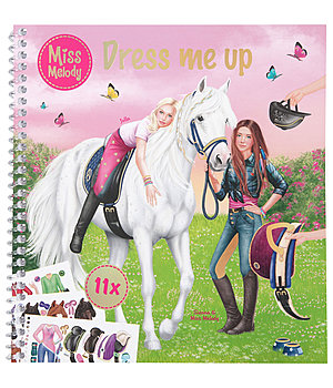 Miss Melody - Carnet de coloriage et stickers Dress me up - 402499